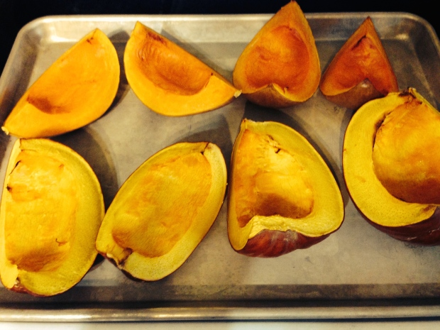 Freshly-roasted pumpkin!